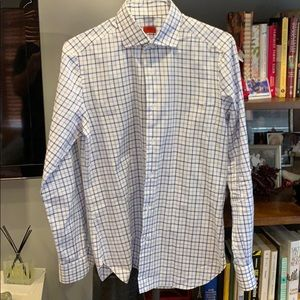 Isaia! Beautiful check dress shirt!